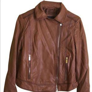 Donna Karan New York Brown Leather Jacket